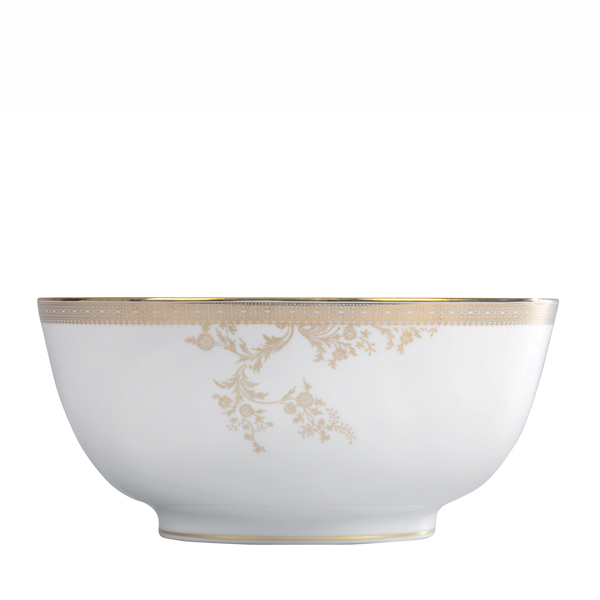 Wedgwood Vera Wang Lace Gold Saladeschaal 25cm