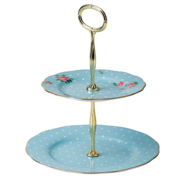 Royal Albert Polka Etagere - blue vintage