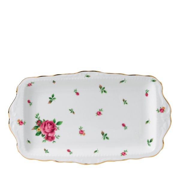 Royal Albert New Country Roses Cakeschaal - white vintage