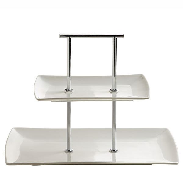 Maxwell & Williams East meets West etagere 2-delig - breed