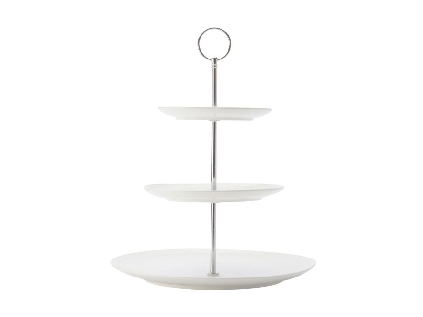 Maxwell & Williams Diamonds Round Etagere 3 Laags