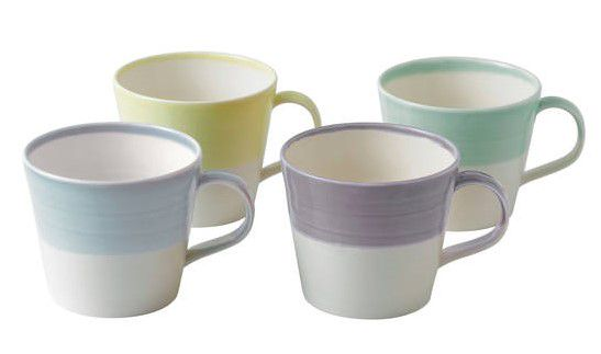 Royal Doulton 1815 Bekers 0.4 Liter - Pastel - set van 4