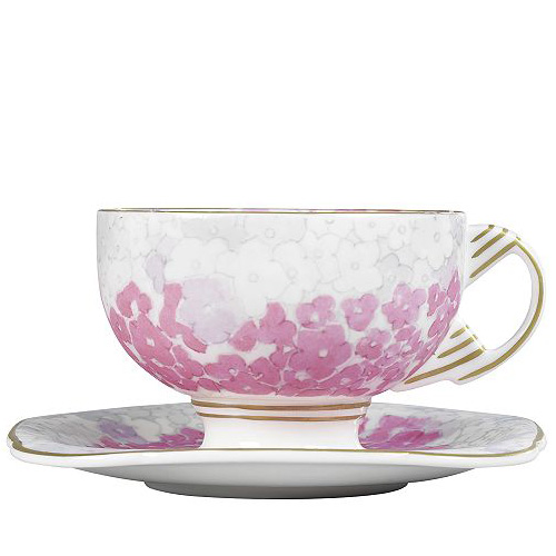 Wedgwood Harlequin Collection Deco Bloom, theekop en schotel