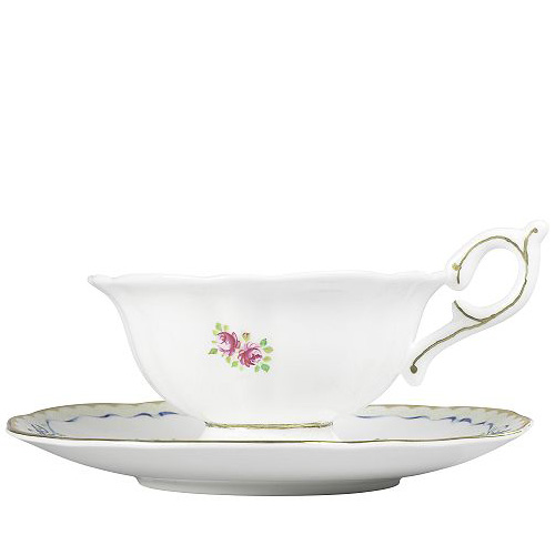 Wedgwood Harlequin Collection Ribbon Rose, theekop en schotel